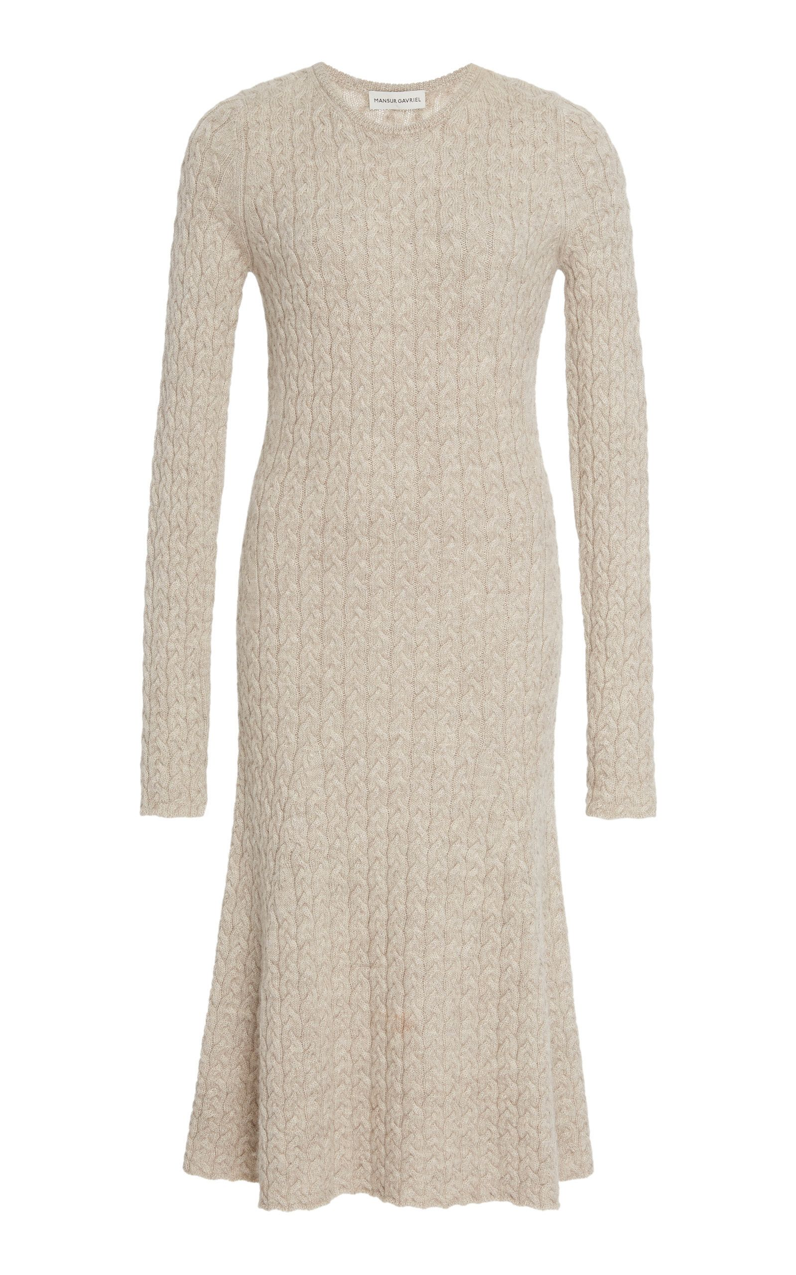 2f7ffa4e639 Cable-Knit Wool And Silk-Blend Midi Dress by MANSUR GAVRIEL Now Available  on Moda Operandi