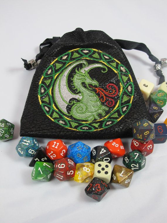 Celtic Dragon Dice bag