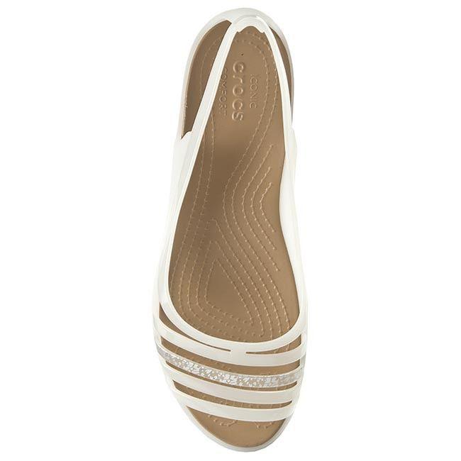 Sandały CROCS - Isabella Huarache Flat białe