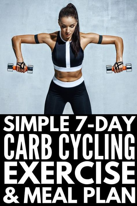 7-Day Carb Cycling Diet Workout Plan For Beginners And