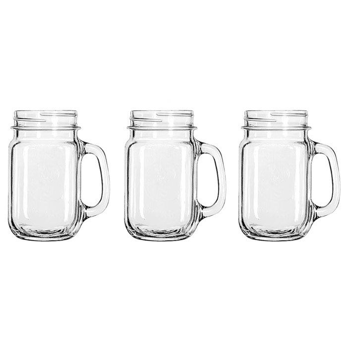 Jar Drinking Glass with handle- best multi-use glasses EVER