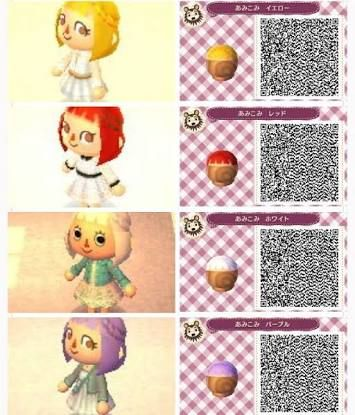 Image Result For Animal Crossing New Leaf Hair Qr Codes Animal Crossing Qr Animal Crossing Animal Crossing Game