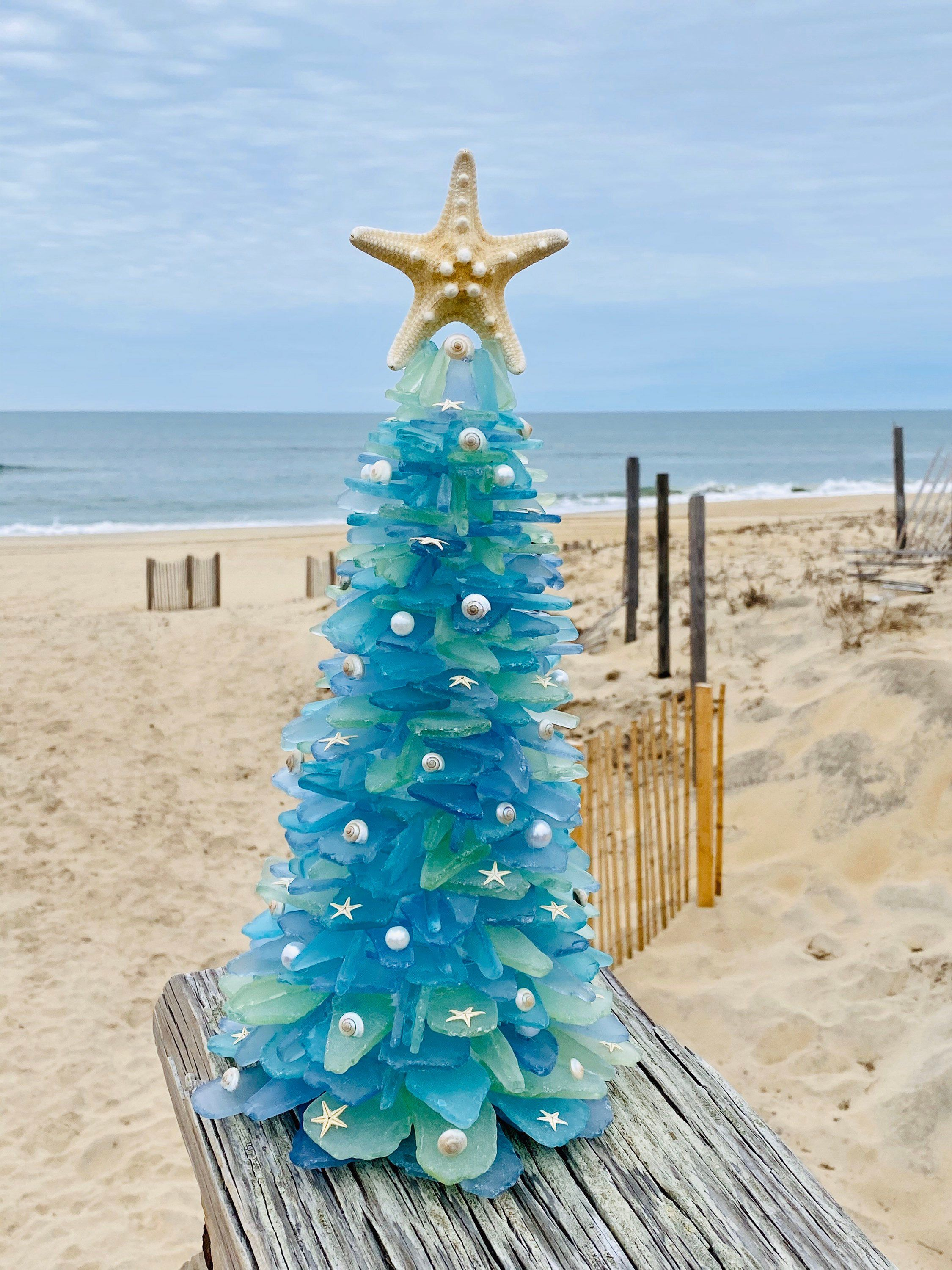Handmade Sea Glass Christmas Tree ( large) in 2020 Glass