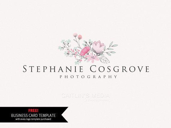Photography logo  premade logo design  watercolor by CaitlinsMedia