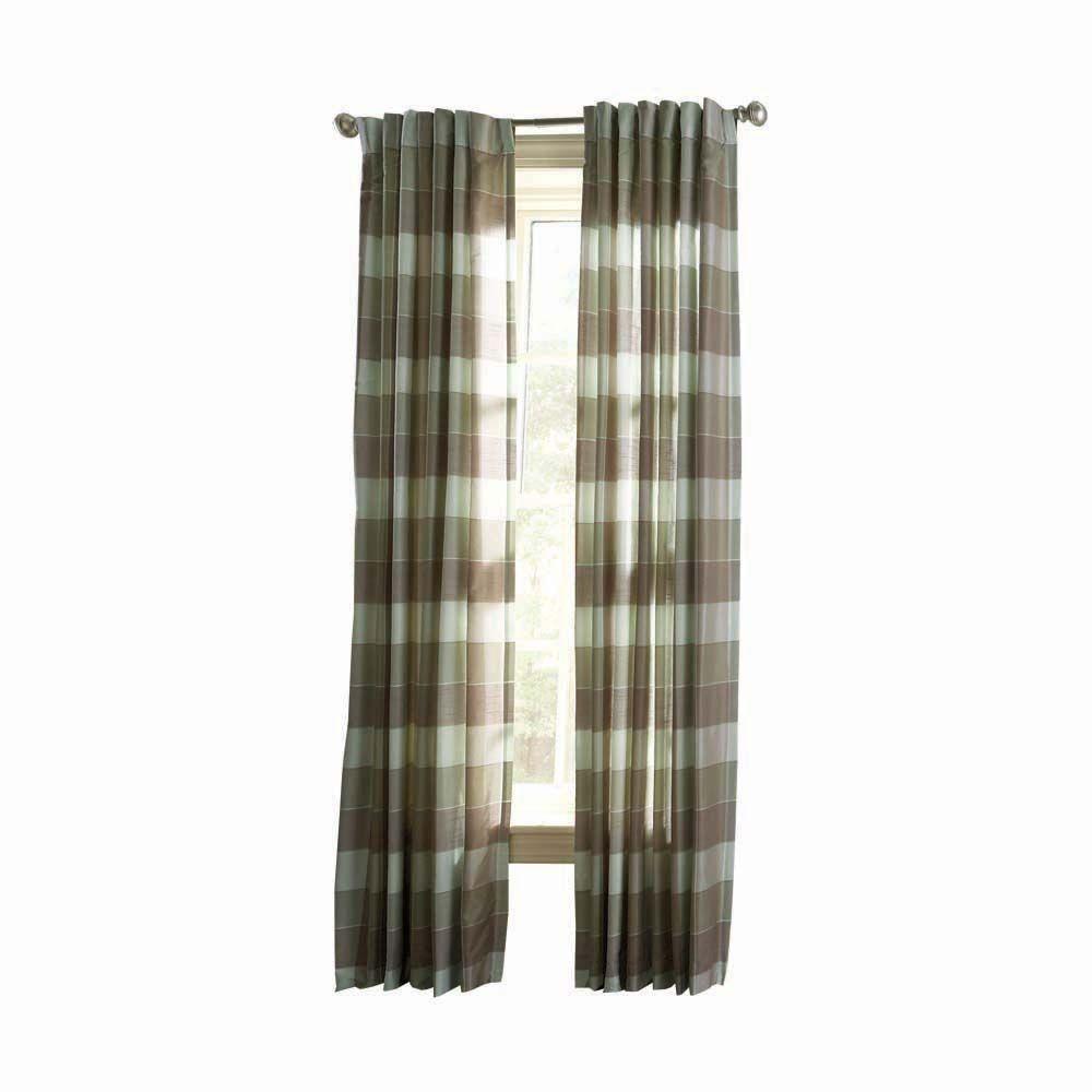 Martha Stewart Living Spring Melt Faux Silk Plaid Curtain