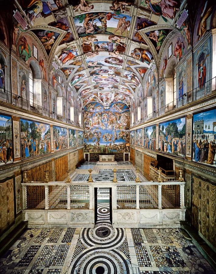 La Chapelle Sixtine Michel Ange : chapelle, sixtine, michel, Épinglé, CHEFS-D'OEUVRES, ITALIENS