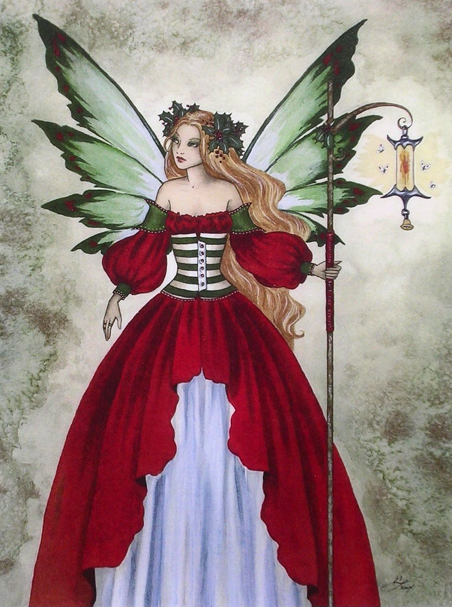 Fairy christmas ornaments - Details About Amy Brown Christmas Sprite Mini Print Out Of Print