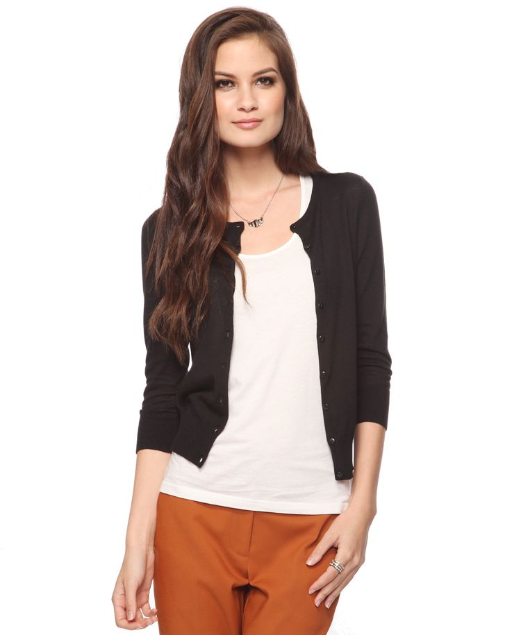 Essential Buttoned Cardigan