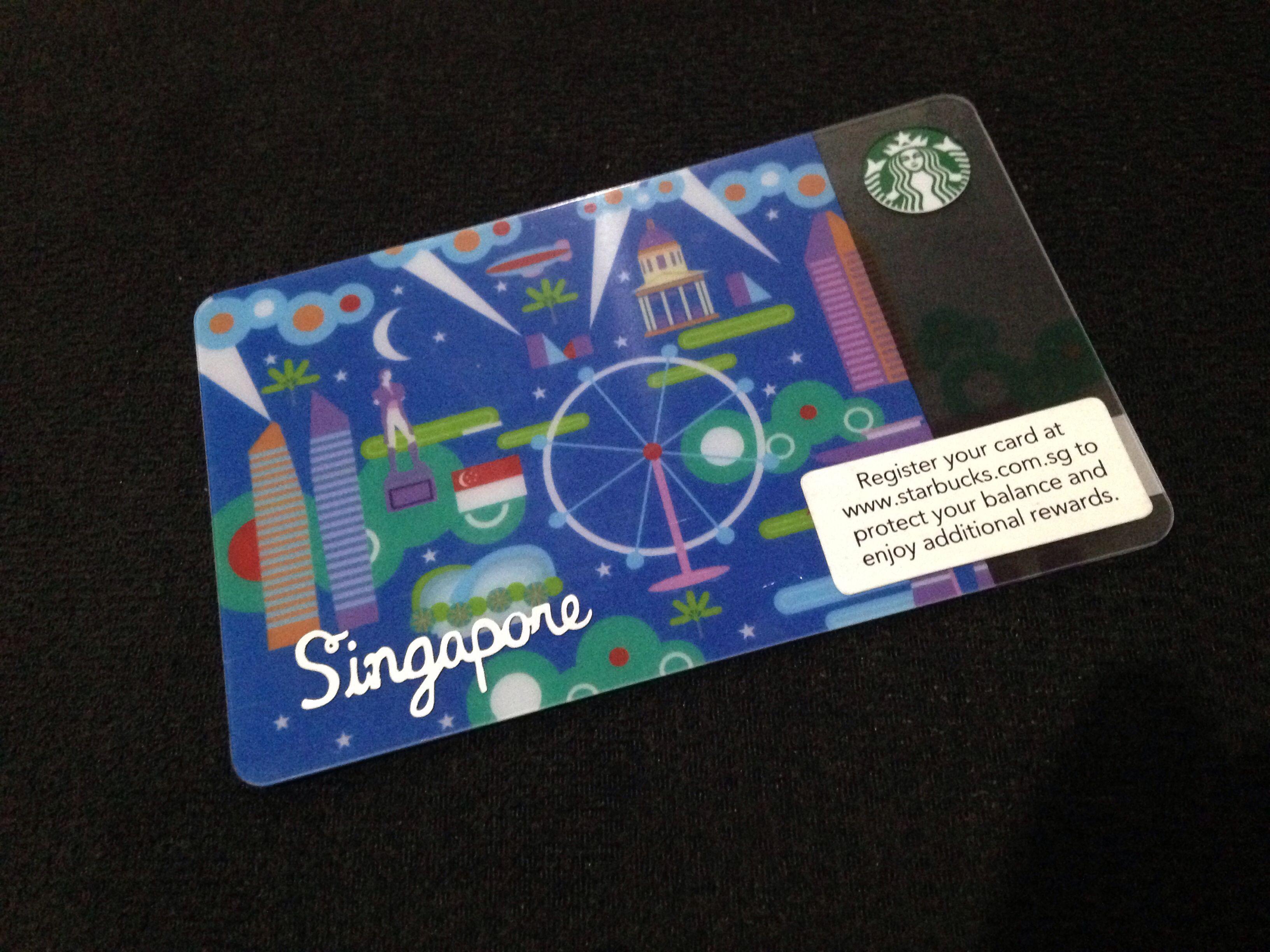 Singapore Starbucks Gift Card Starbucks Gift Card Starbucks Card Starbucks Gift