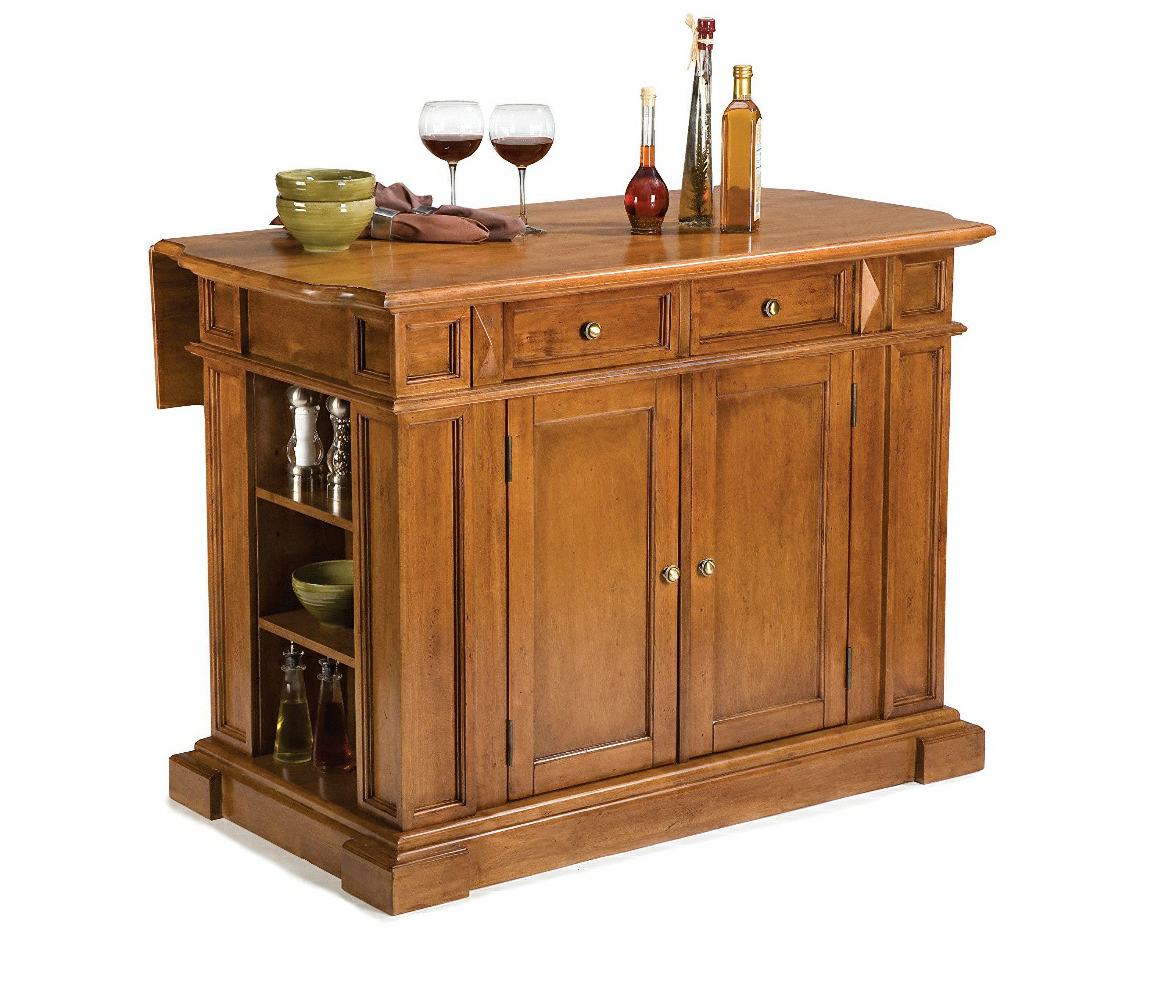 Americana Oak Kitchen Island By Home Styles In 2021 Kitchen Styling Home Styles Home Depot Kitchen