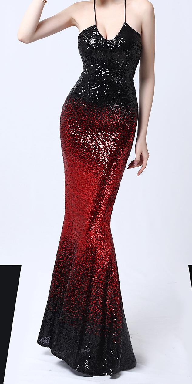 Black And Red Sparkle Tight Maxi Evening Dress Stunning Maxi Dress Evening Red Sequin Dress Evening Dress Sleeveless [ 1266 x 633 Pixel ]
