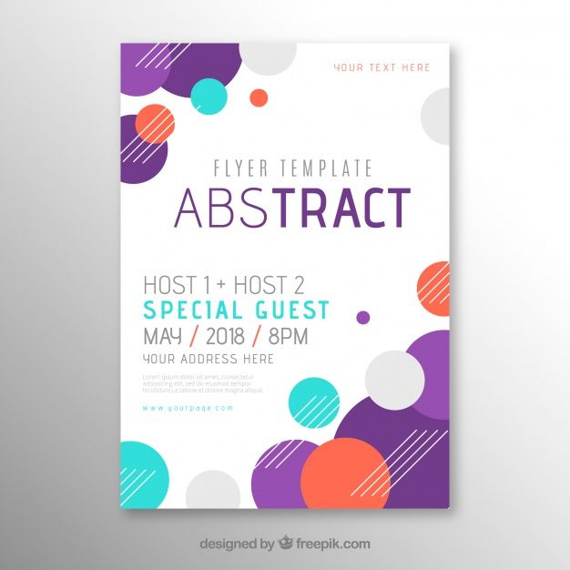 flyer template in abstract style free vector poster pinterest