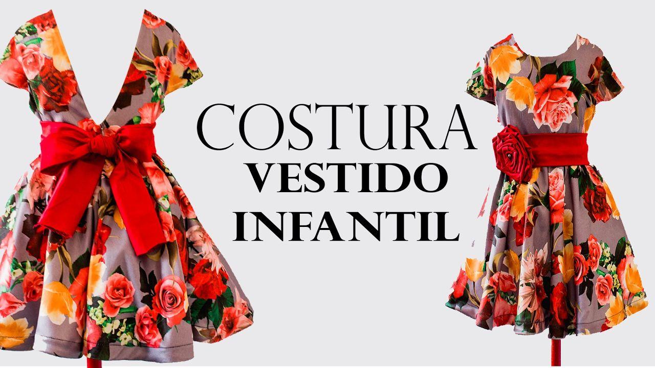 c3c5b03762abbf COSTURA- VESTIDO GODÊ INFANTIL COM MANGA EMBUTIDA | CONFECCION ...