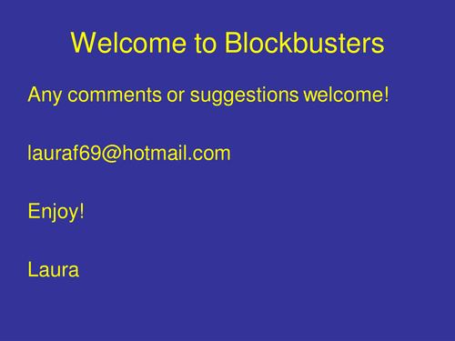 Interactive Blockbuster Template Ppt