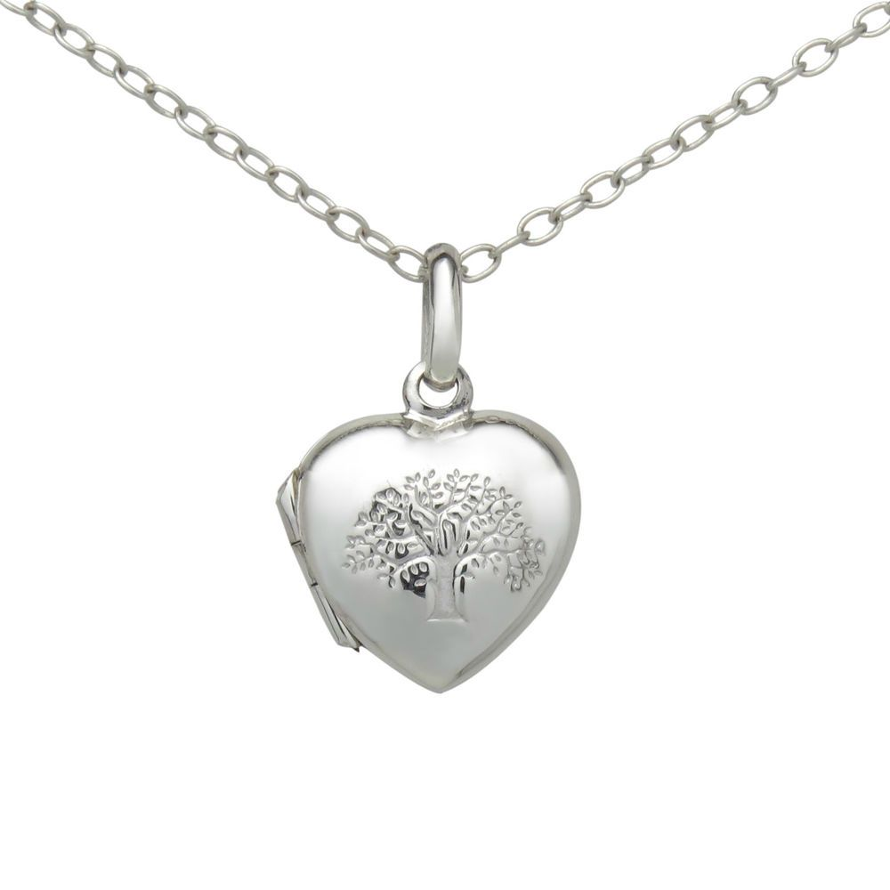 Stamped 925 sterling silver tree of life heart love locket pendant stamped 925 sterling silver tree of life heart love locket pendant necklace sm aloadofball Images