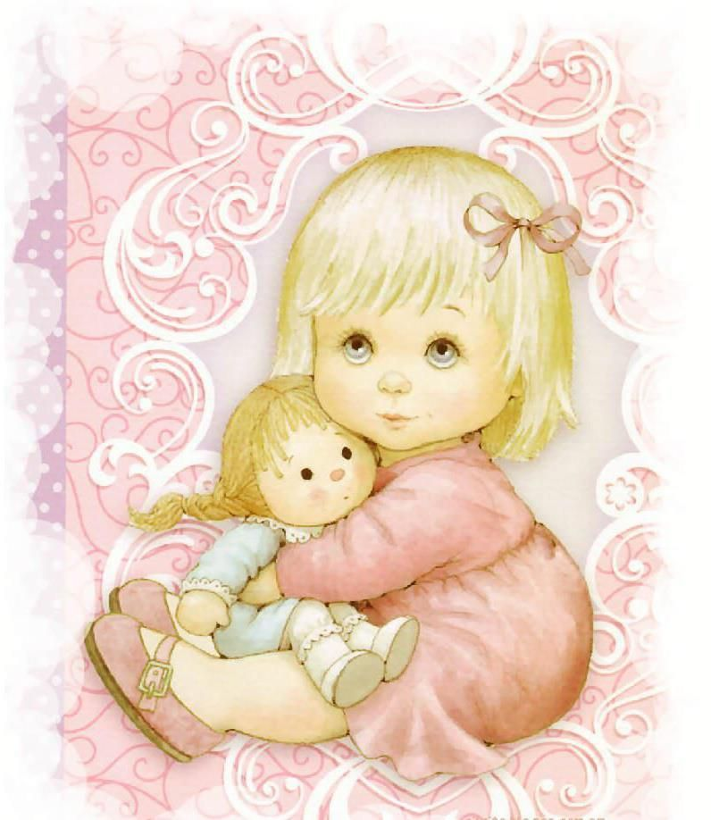 Картинки для открыток для девочек, открытку