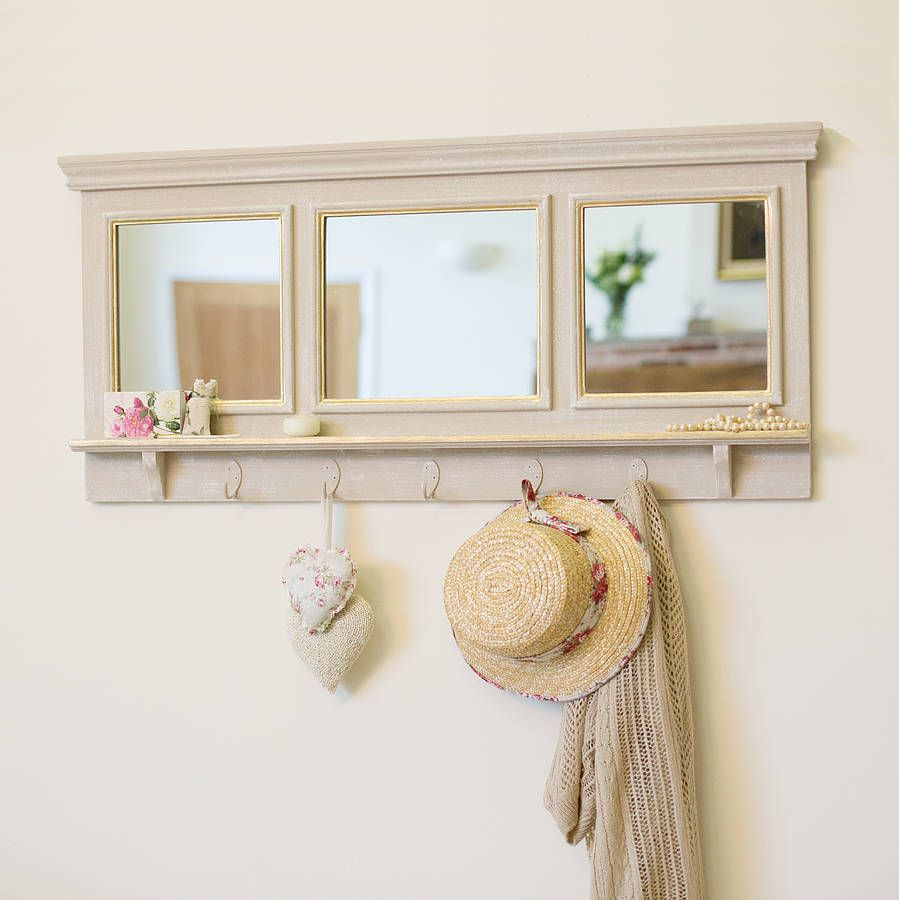 beautiful hallway mirror... could upcycle an old door or window to make one of these :)