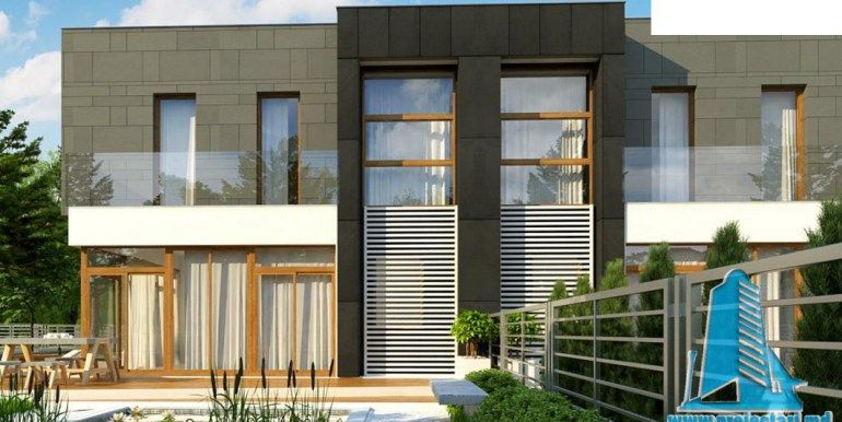 Proiect de casa duplex cu parter etaj si garaj pentru un for Casa moderna in moldova
