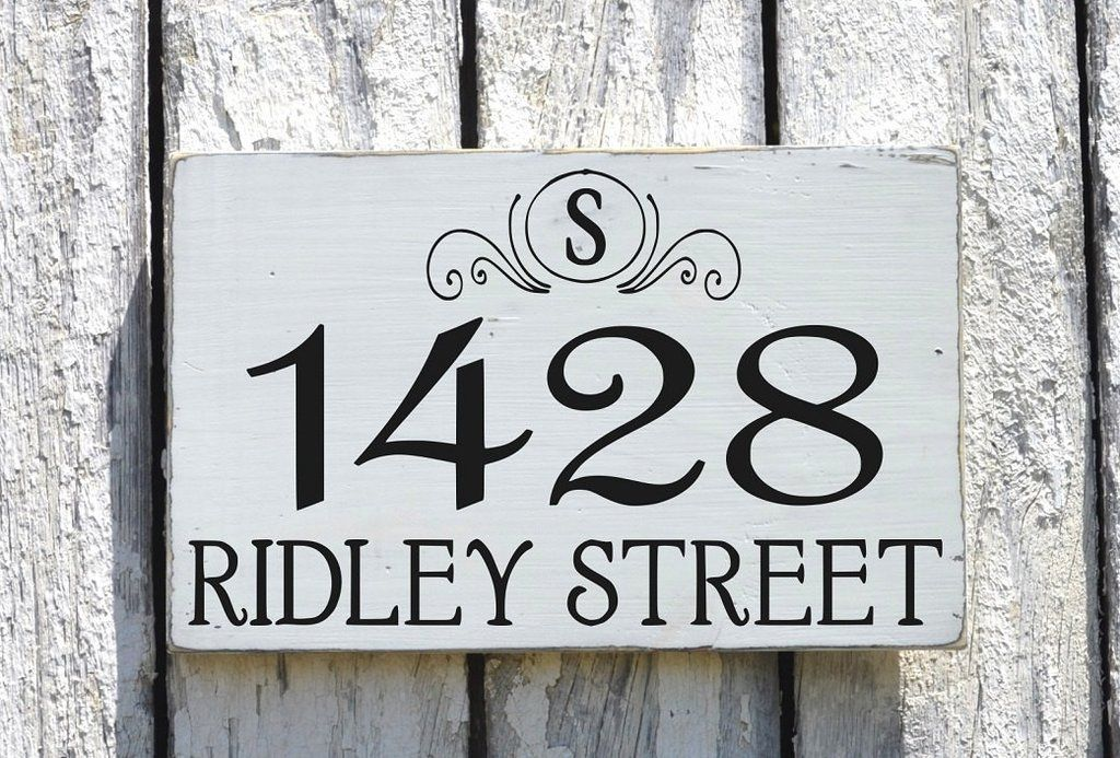 Address Plaques Outdoor House Numbers Sign Monogram Personalized ...