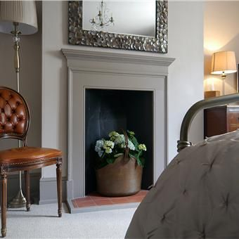 Fireplace upcycle. Annie Sloan French Linen painted onto black ...