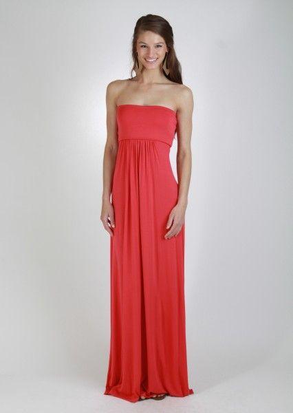 Scarlet Strapless Maxi Dress