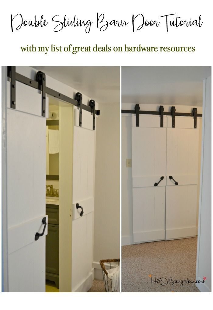 Easy Diy Double Barn Door Tutorial For Interior Sliding Doors With A Budget Friendly Resource All Sizes Of Hardware