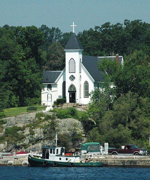 Church At 1000 Islands Usa Canada