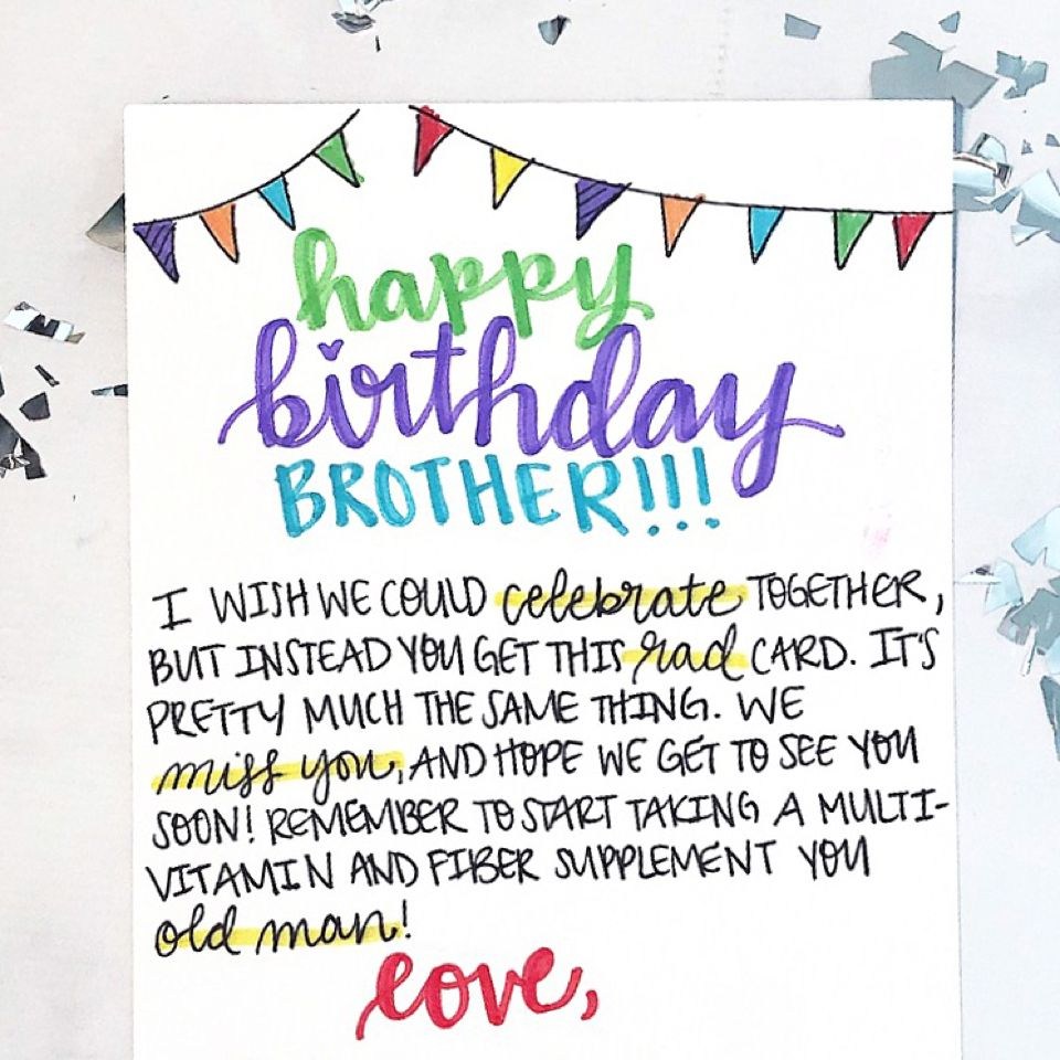 A Well Written Personal Birthday Card Is Obvi The Best Way To Send Wishes And While There I Funny Birthday Card Messages Birthday Cards Birthday Card Messages