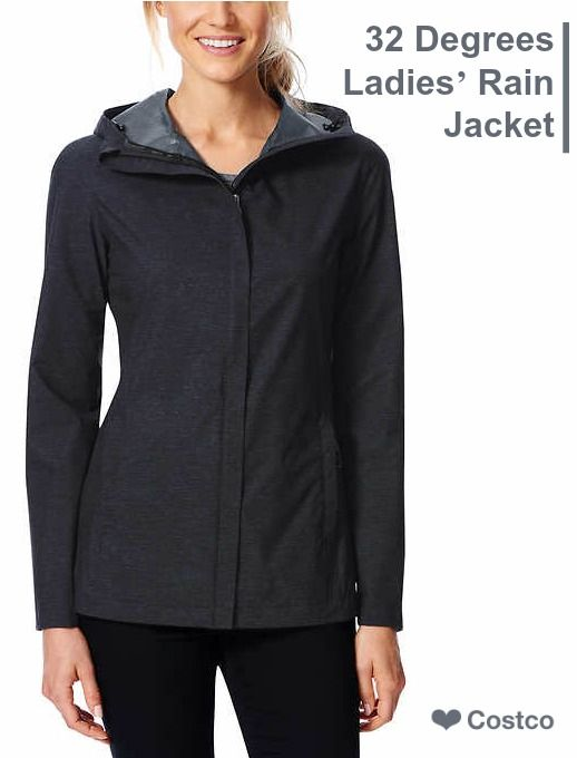 6f3c5e450293a 32 Degrees Cool rain jacket is light weight