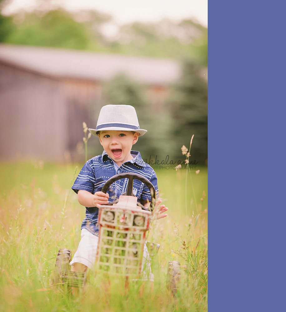 www.nikkalaannephotography.com  boy tractor hat barn country photo session idea inspiration