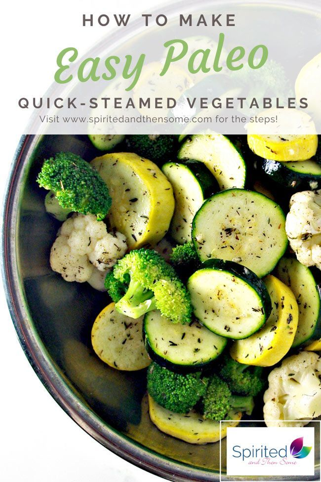 These Easy Paleo Quick-Steamed Vegetables are seasoned with garlic, thyme, and sage, for a delicious, warming side dish recipe! They are nutritious, hearty and ideal for Thanksgiving side dishes and Christmas dinner! #Christmasrecipes #Christmasdinner #Thanksgivingsidedishes #paleorecipes #healthyrecipes | spiritedandthensome.com
