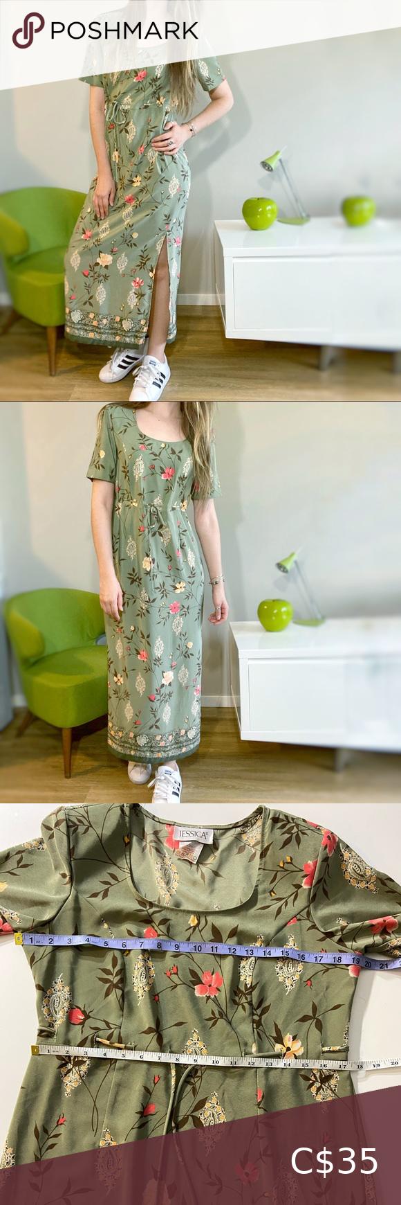 Vintage Floral Paisley Green Maxi Summer Dress Summer Dresses Summer Maxi Dress Vintage Summer Dresses [ 1740 x 580 Pixel ]