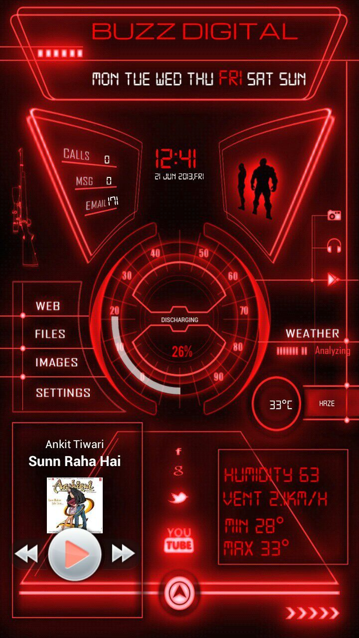 Homescreen Design Contest Entry Rohit Nagpure My Homepack Buzz Digital Enjoy The Theme Made For Buzz Lovers Who Like It Digital Desain Militer