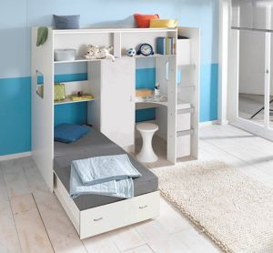 high sleeper loft style cabin bed with hideaway futon bed rutland m0360  high sleeper loft style cabin bed with hideaway futon bed      rh   pinterest