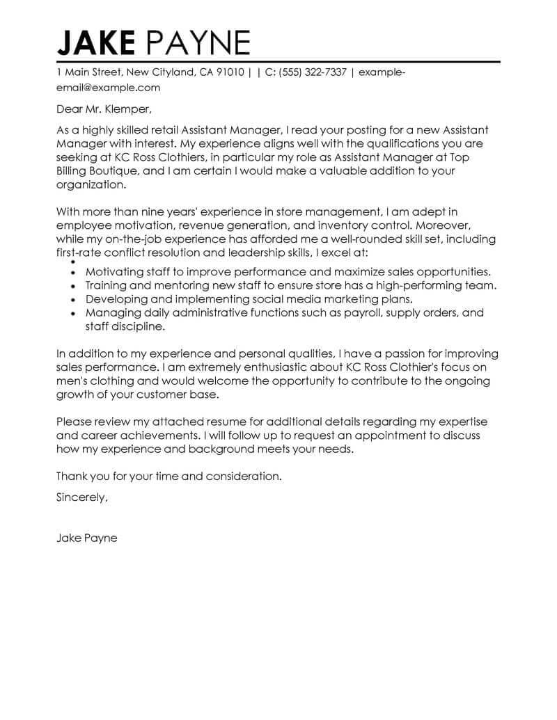 26 manager cover letter manager cover letter best retail assistant manager cover letter examples