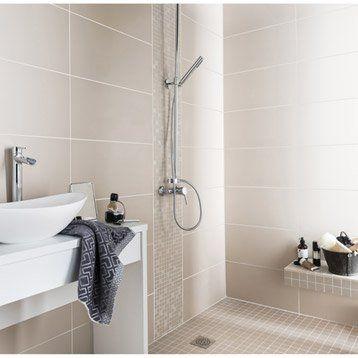 Fa ence mur taupe purity x cm salle de bain - Faience salle de bain zen ...