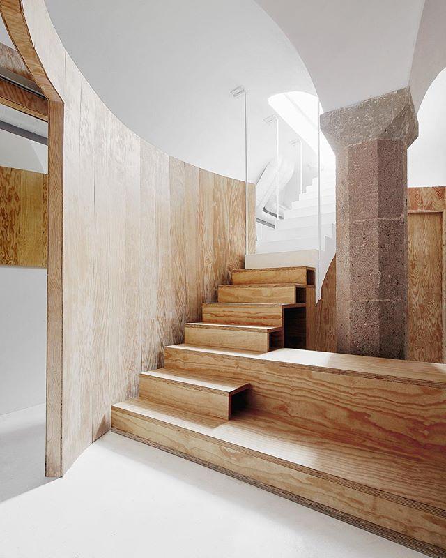 On divisare com divisare architecture arquitectura spain barcelona apartment interior spanish wooden partition reused living indoor stairs