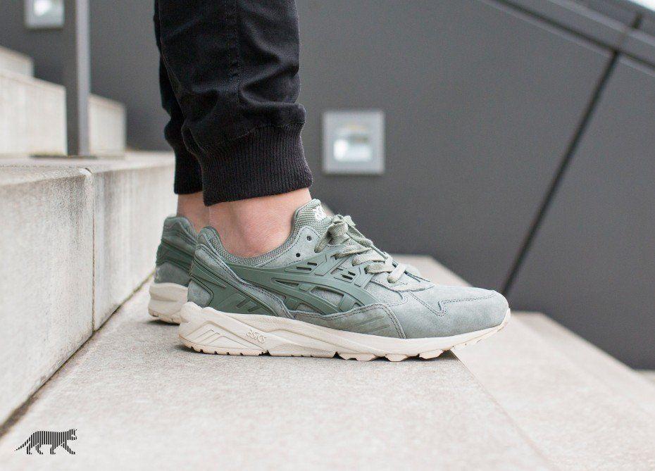 asics green trainers