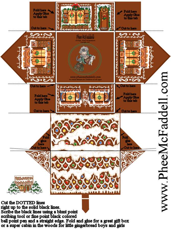 Wild image within printable gingerbread houses