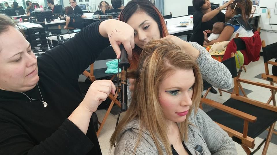 When cosmetology students teach esti students... This