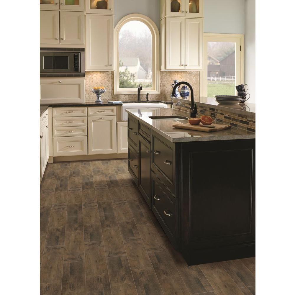 Dirty Kitchen Floor: MSI Barnwood Cognac 8 In. X 36 In. Glazed Porcelain Floor