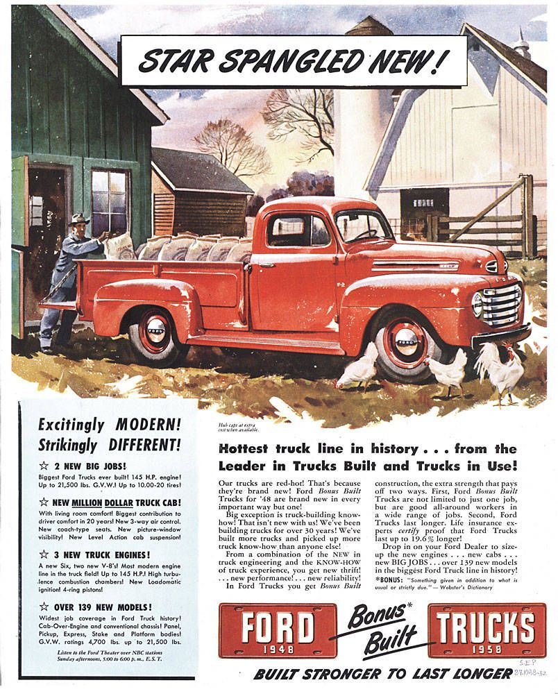 Classic Ford Trucks With Images 1948 Ford Truck Classic Ford
