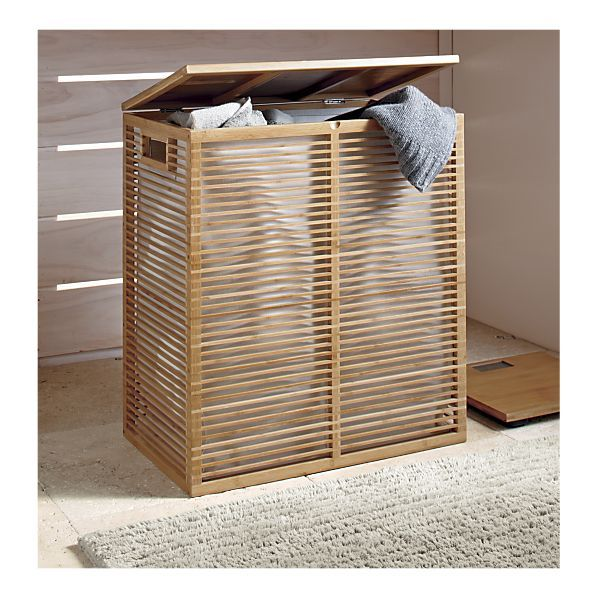 For The Bedroom Crate Barrel Bamboo Hamper With Liner 59 99