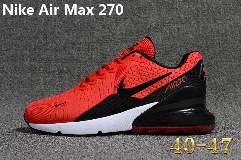 reputable site dbb43 94adf Spring Summer 2018 Where To Buy Nike Air Max 270 KPU Latest Styles Running  Shoes Sneakers 2018 Red Black