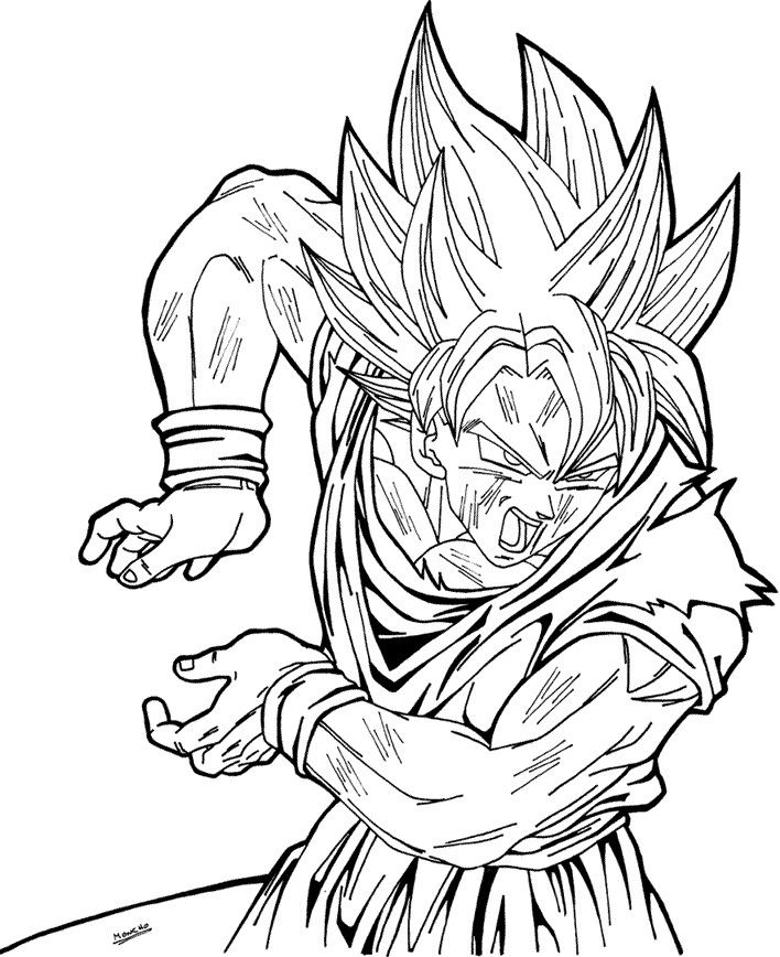 Goku Super Saiyan Injured 02 By Moncho M89 Dragon Ball Super Artwork Dragon Coloring Page Goku Drawing