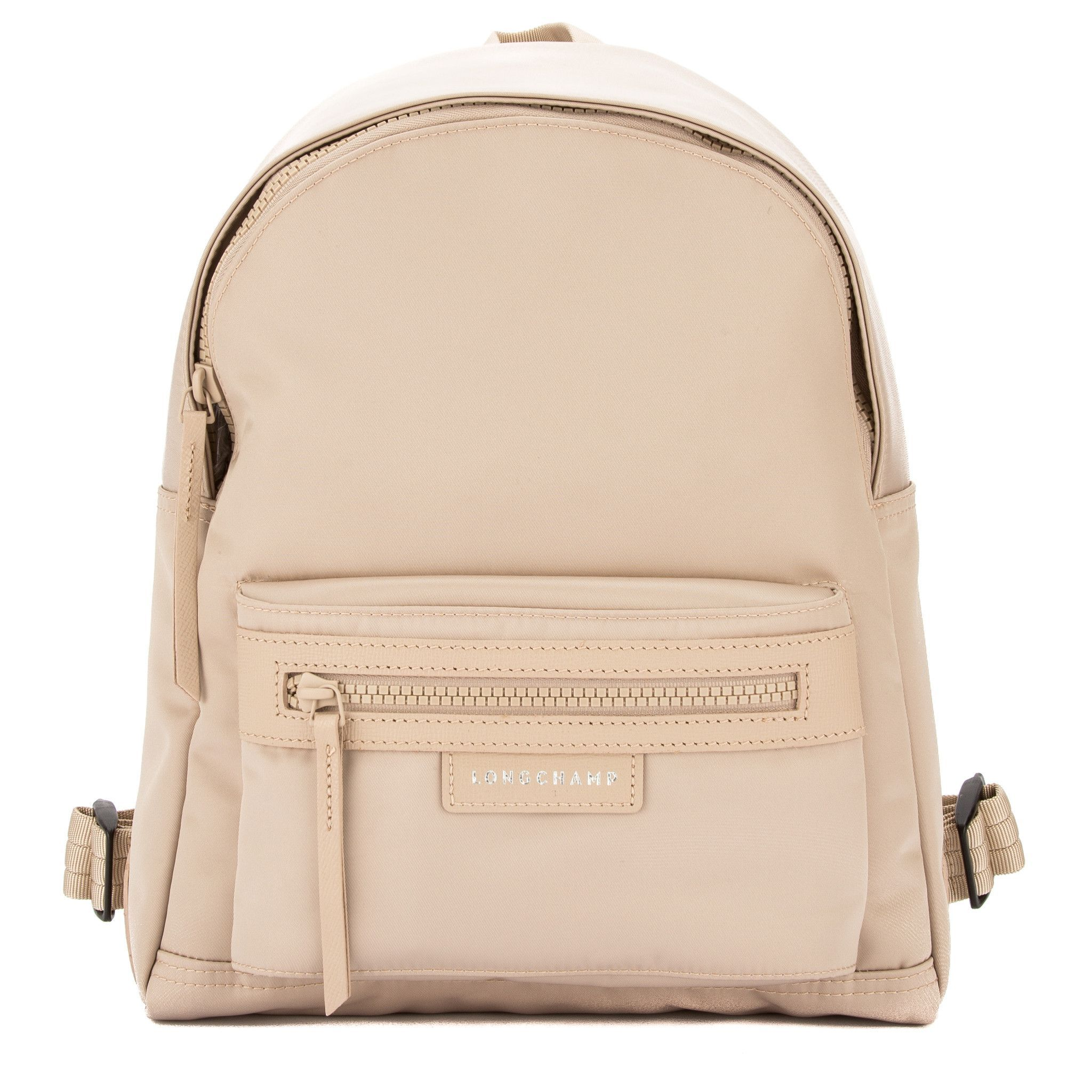 26f2d082f6 Longchamp Chalk Satin Nylon Canvas Le Pliage Neo S Backpack (New with Tags)