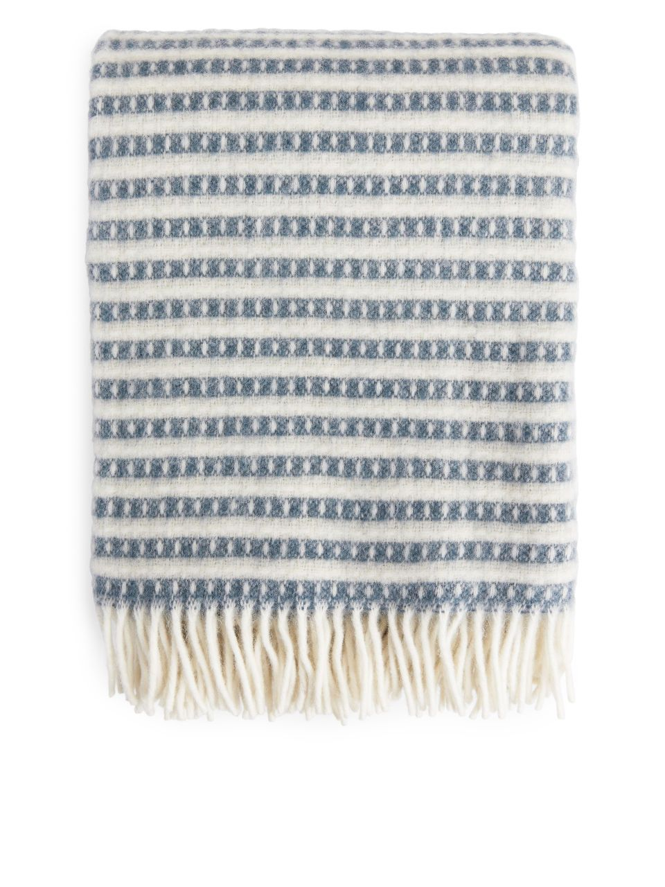 Klippan Olle Blanket Blue Off White Home Interior