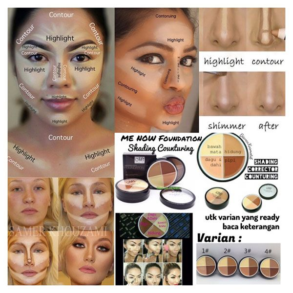 jual mn foundation concealer menow me now for shading contouring