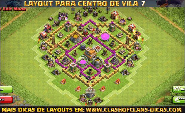layouts de cv7 para clash of clans clash of clans dicas sla