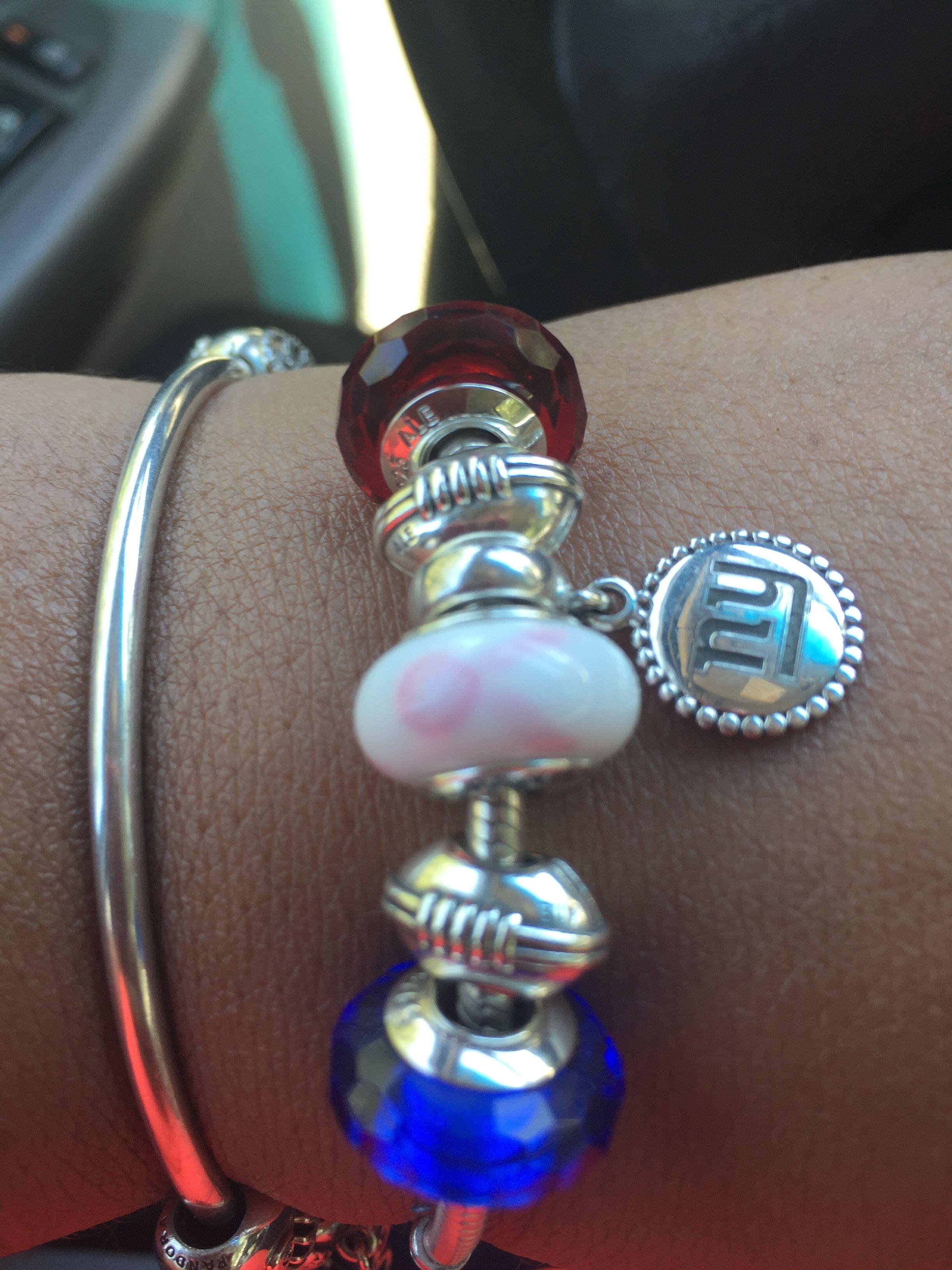 Ny Giants Pandora Bracelet With Images